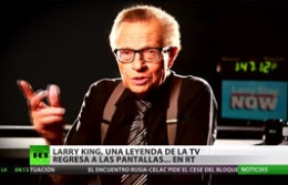 Larry King ficha for Russia Today